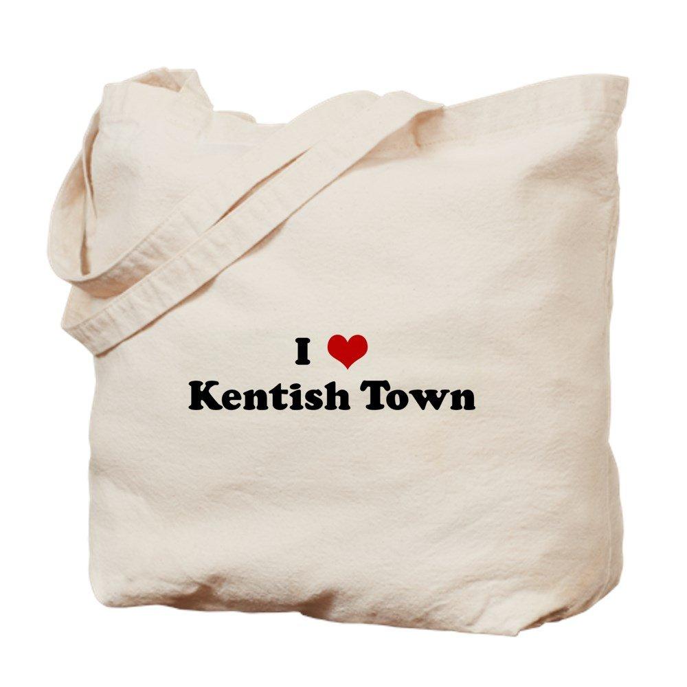 CafePress – I Love Kentish町 – ナチュラルキャンバストートバッグ、布ショッピングバッグ S ベージュ 0177103693DECC2 B0773SMN9L S