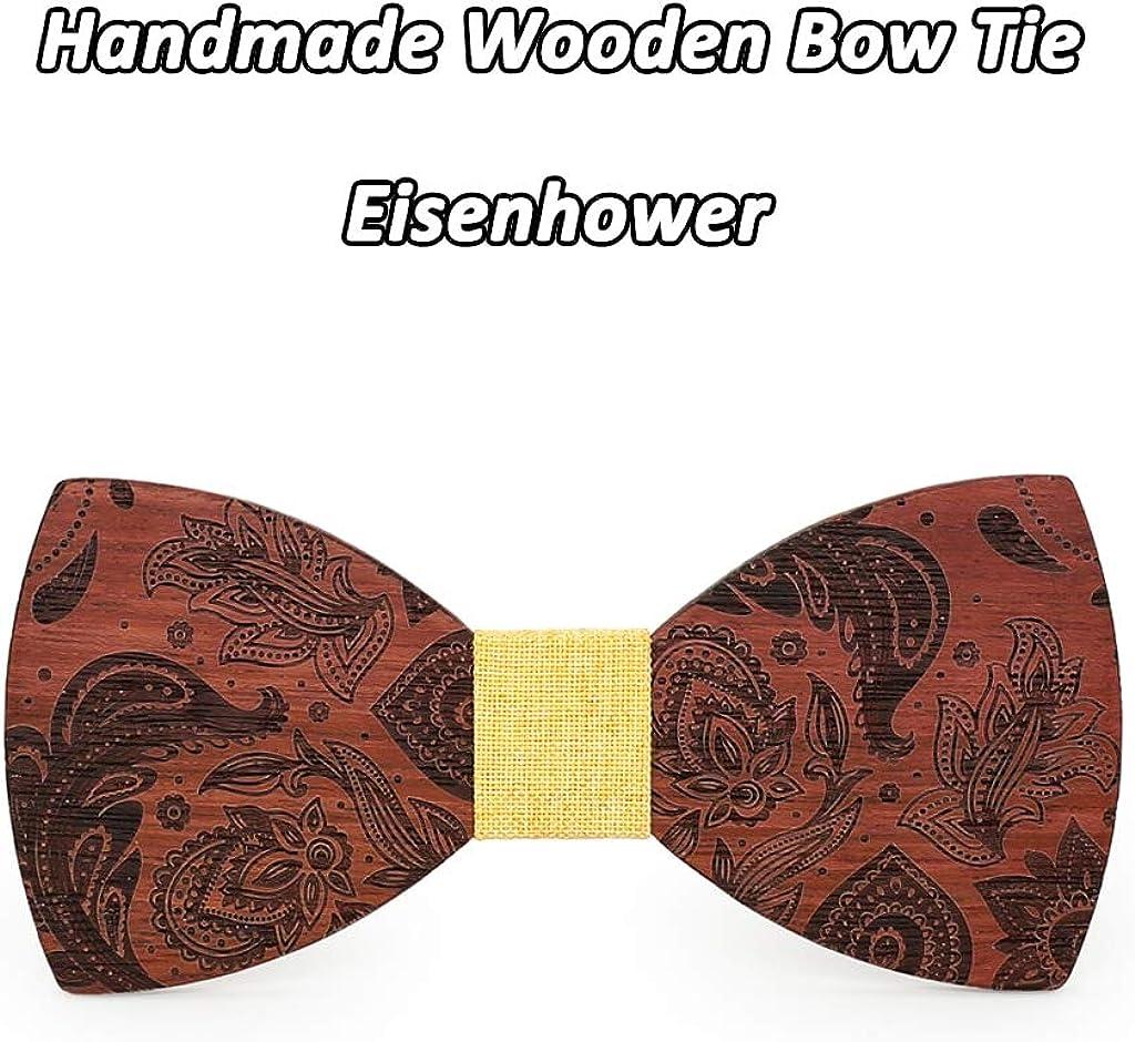 AJGTV Vintage Corbatas de lazo de madera Corbatines Para Mujer ...