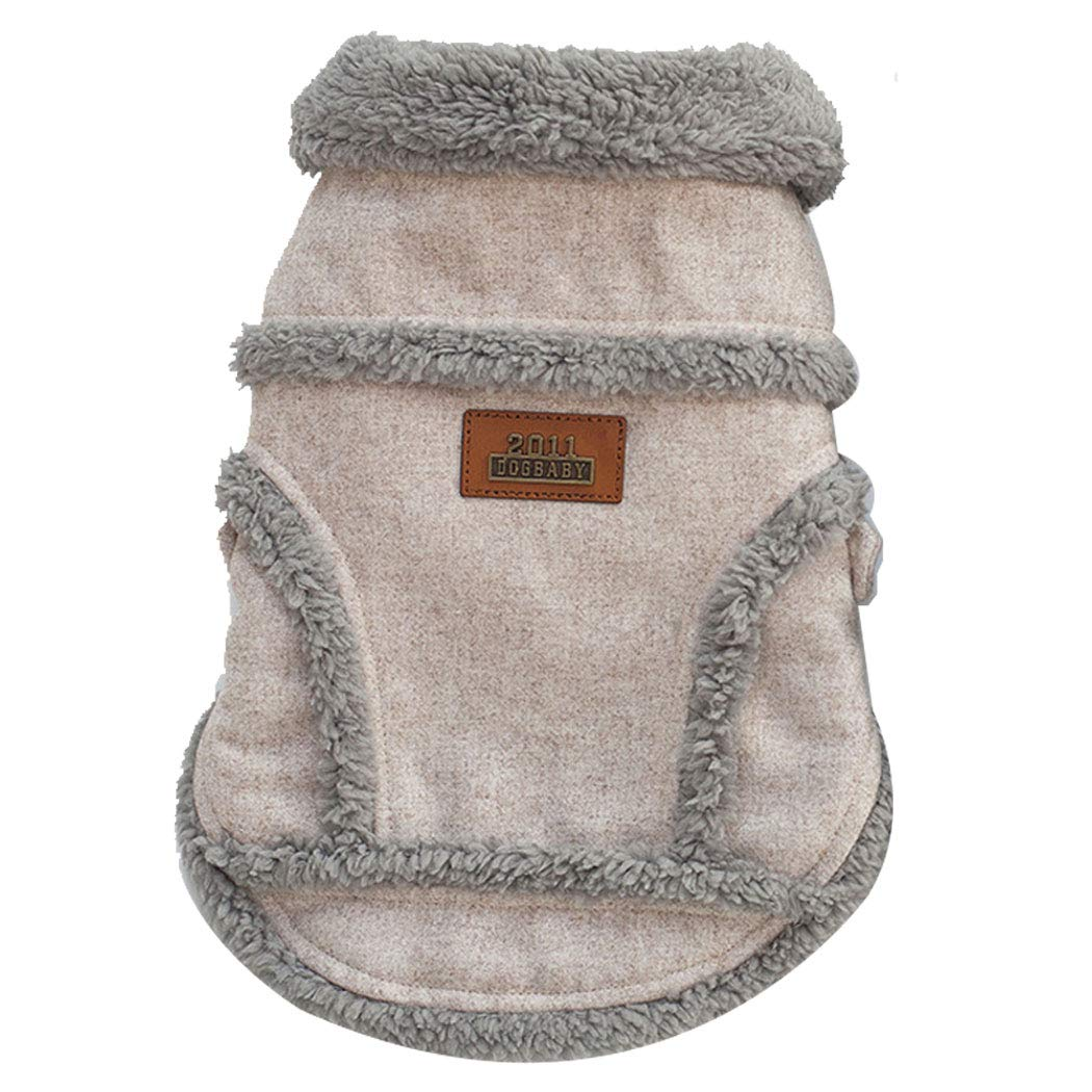 Beige XXXL Beige XXXL Pet Clothing Small Dog Clothing Autumn and Winter Teddy Dog Clothes Nordic Jacket (color   Beige, Size   XXXL)