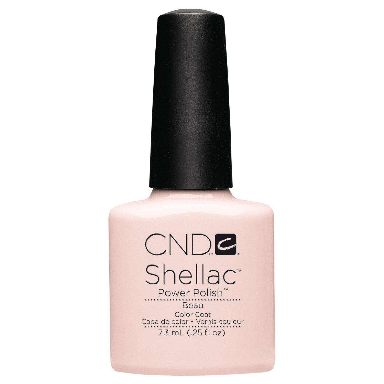 Amazon.com: CND Shellac Nail Polish, Beau, 0.25 fl. oz.: Luxury Beauty