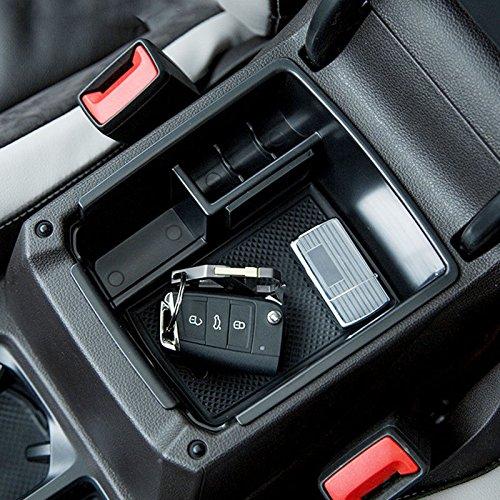 Bo/îte de rangement organiseur Console centrale pour accoudoir Tiguan L//Mk2 2016-2018 automatique