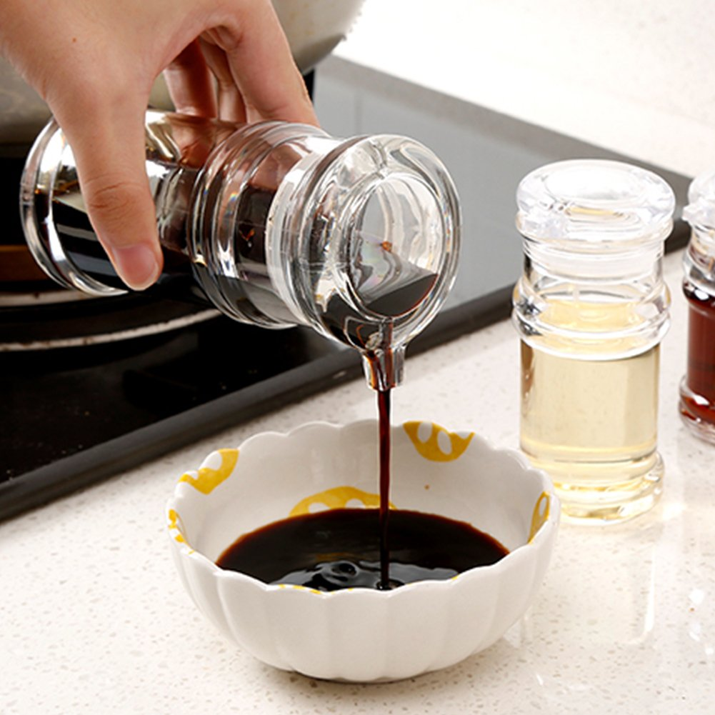 120/150/210ml Transparent Acrylic Sauce Bottle Clear Acrylic Vinegar Olive Oil Bottle BBQ Dispenser Shaker Seasoning Bottle for Home Kitchen Cooking Tool (120ML,Transparent-120ML) by YOEDAF (Image #5)