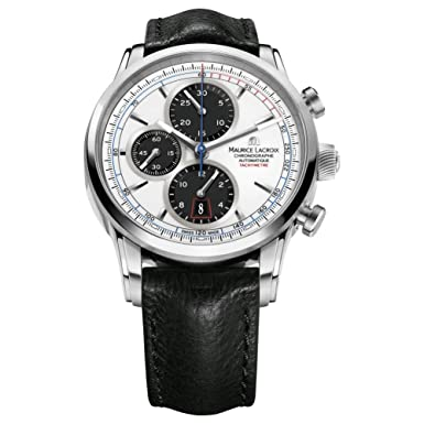 Maurice Lacroix Men s PT6288-SS001-130 Pontos Analog Display Swiss Automatic Black Watch