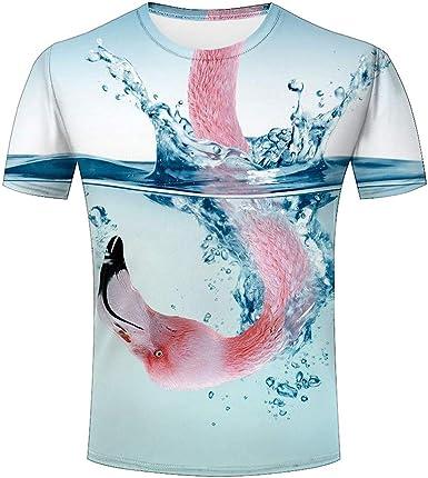 XiuHongShangMAo Unisex Kids Nolen Astronaut DJ Round Collar Short Sleeve T Shirt