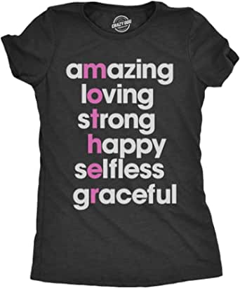 Womens Mother Letters Tshirt Cute Adorable Appreciation Mothers Day Tee For Mom