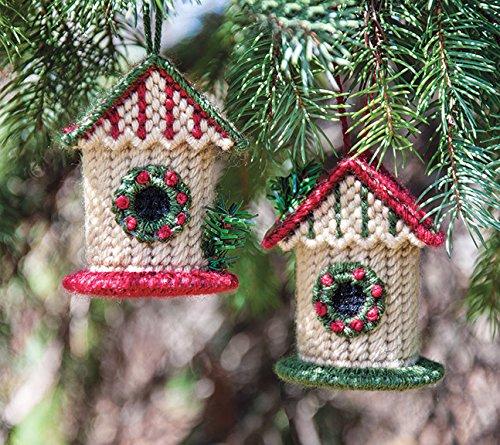 Birdhouse Ornaments Cover Plastic Canvas Kit Review