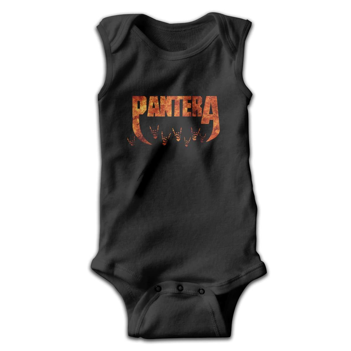 H-Softsneakers Pantera Logo Sleeveless Baby Boys Jumpsuit Cute Onesie Summer Bodysuits