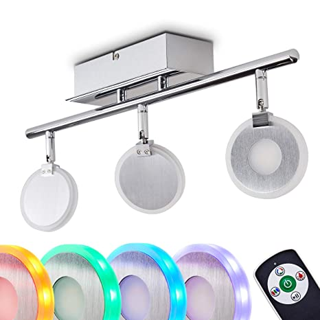 Lámpara de techo LED Plumas 3 Focos - con cambiador de ...