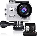 """ieGeek Wifi 2.0"""" inch 1080P Full HD Sport Action Camera with Waterproof Case 170° Wide Angle Lens 12MP Outdoor Camcorder with Accessories Kits For Bike Motorcycle Surfing Diving Swimming Skiing Climbing etc, Silver"""