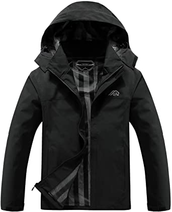 OTU Men's Lightweight Hooded Rain Jacket