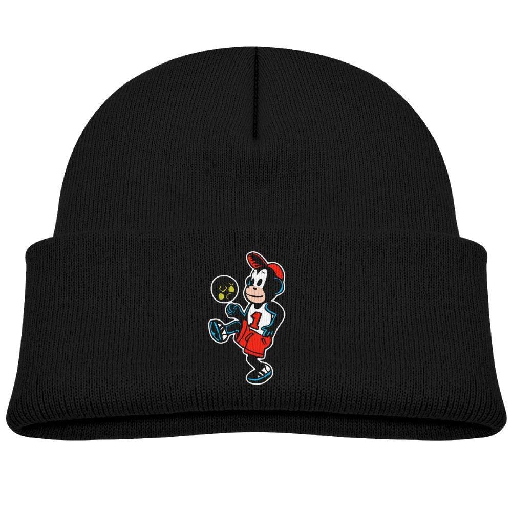 Fzjy Wnx Cool Monkey Football Wool Knit Caps Cool Boys Winter