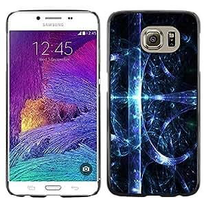 Caucho caso de Shell duro de la cubierta de accesorios de protección BY RAYDREAMMM - Samsung Galaxy S6 - Abstract Space Splash