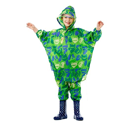 Feixunfan Impermeable de los niños Chaqueta de Traje Verde ...