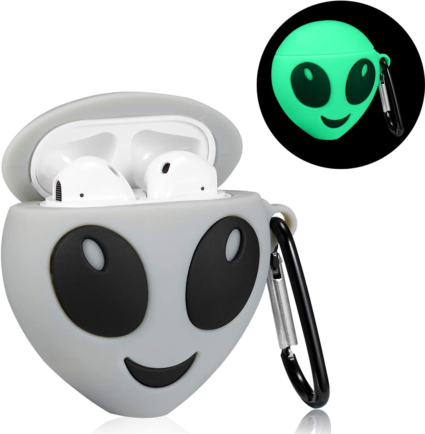 Lupct White Camera Compatible with Airpods 1//2 Case Silicone,Cute Cartoon 3D Cool Air pods Design Cover Fun Kawaii Fashion Stylish Funny Cases for Kids Girls Teens Boys Character Skin Keychain Airpod
