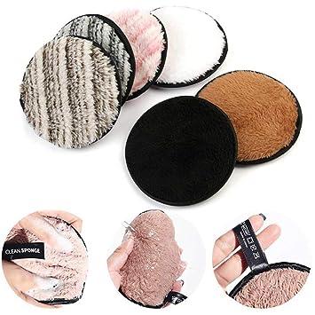 leegoal 6 Unidades Toalla Desmaquillante Facial Microfibra Lavable/Reutilizable,Maquillaje Remover Paño,Remover Make Up Face Cloth: Amazon.es: Hogar