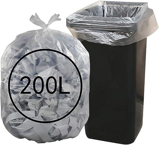 Ucake 200L55 Gallons Sacs Poubelles Transparent, 70 Pièces