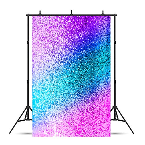 Purple Glitter Backgrounds - Xingouchen 5x7ft Vinyl Gradient Glitter Photo Backgrounds Blue Purple Mermaid Photography Backdrops Decoration Children Kids Baby Shower Birthday Party Props