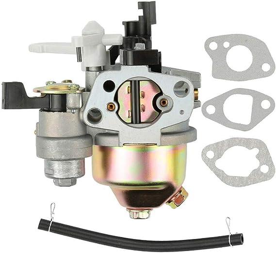 KKmoon Carburador con Motor Junta Tuberia de Combustible para GX160 GX168F GX200 5.5HP 6.5HP