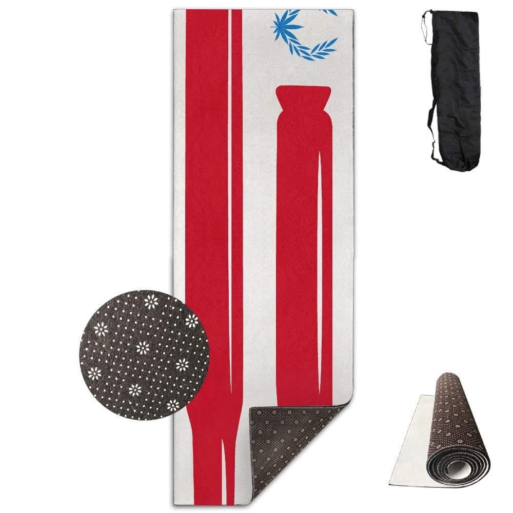 Wreaths Gun American Flag Deluxe,Yoga Mat Aerobic Exercise Pilates Anti-Slip Gymnastics Mats
