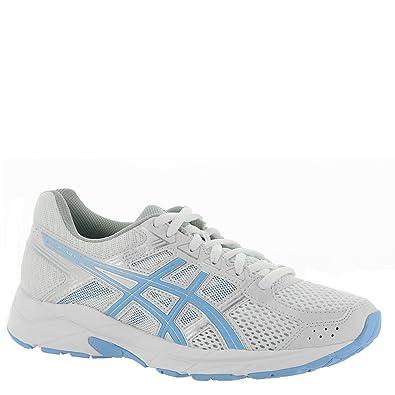 buy online 92b06 38ac2 ASICS Gel-Contend 4 Women's Running Shoe, White/Bluebell, 7 M US