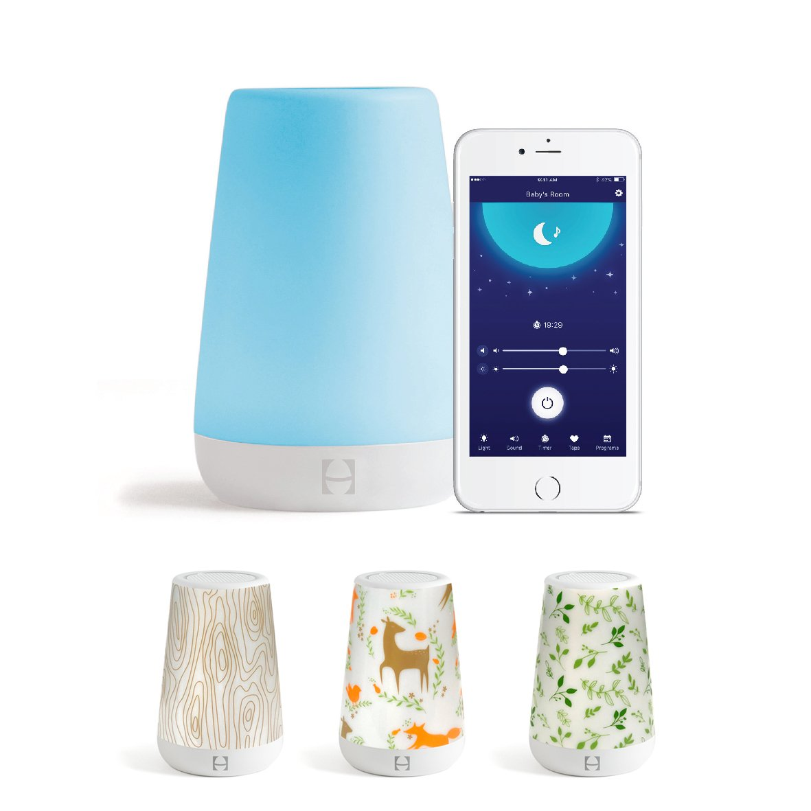 Hatch Baby Rest Night Light, Sound Machine and Time-to-Rise with Coverlets (Into The Woods)
