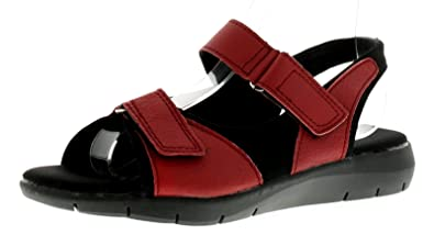 68c7c78b7da6e Dr Keller Moira Womens Ladies Leather Comfort Sandals Red - Red - UK Size 9