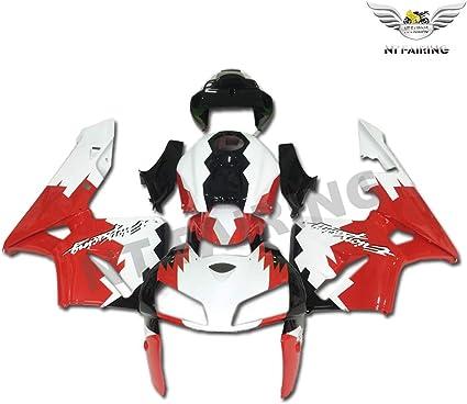 Plastic Red White Bodywork Fairing Fit for Honda 2005 2006 CBR600RR CBR 600RR Injection Mold ABS New Aftermarket Bodyframe Kit Set 05 06