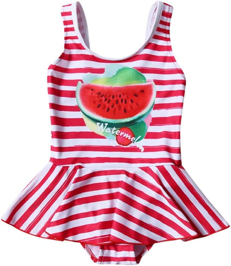 2-13 Years Red Melon Girls one Piece Swimsuit Mint Aqua