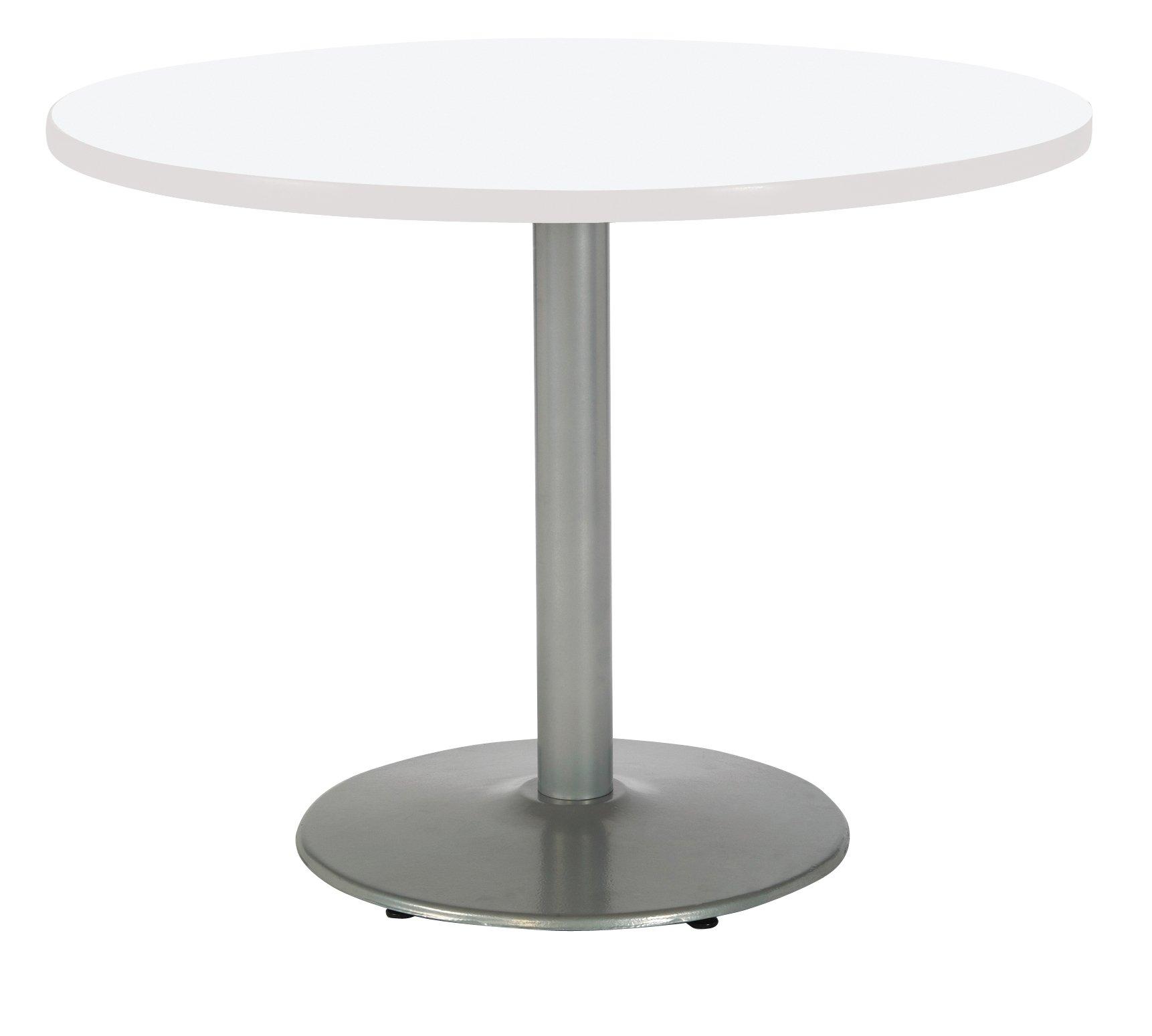 KFI Seating T48RD-B1930-SL-D354 Mode Multipurpose Table, 29'' H x 48'' W X 48'' D, Designer White
