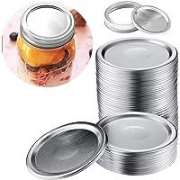 FireAngels 24 tapas de conserva boca ancha y boca regular con sellos de silicona para tapas de latas de tarro Mason 24 tapas de 70 mm
