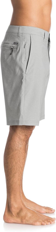 Quiksilver Mens Twill Yarn Dye Amphibian 20 Inch Hybrid Short