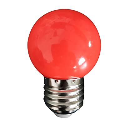 WarmBay E27 0.5W Energy Saving LED Light Bulb Colorful Incandescent Lamp Bulbs Indoor Outdoor Entertainment Lighting for Porch,Home Lighting,Party,Holiday Decoration (Red): Toys & Games