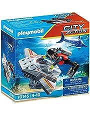 PLAYMOBIL City Action Sjönöd: Undervattensscooter i räddningsinsats - 70145
