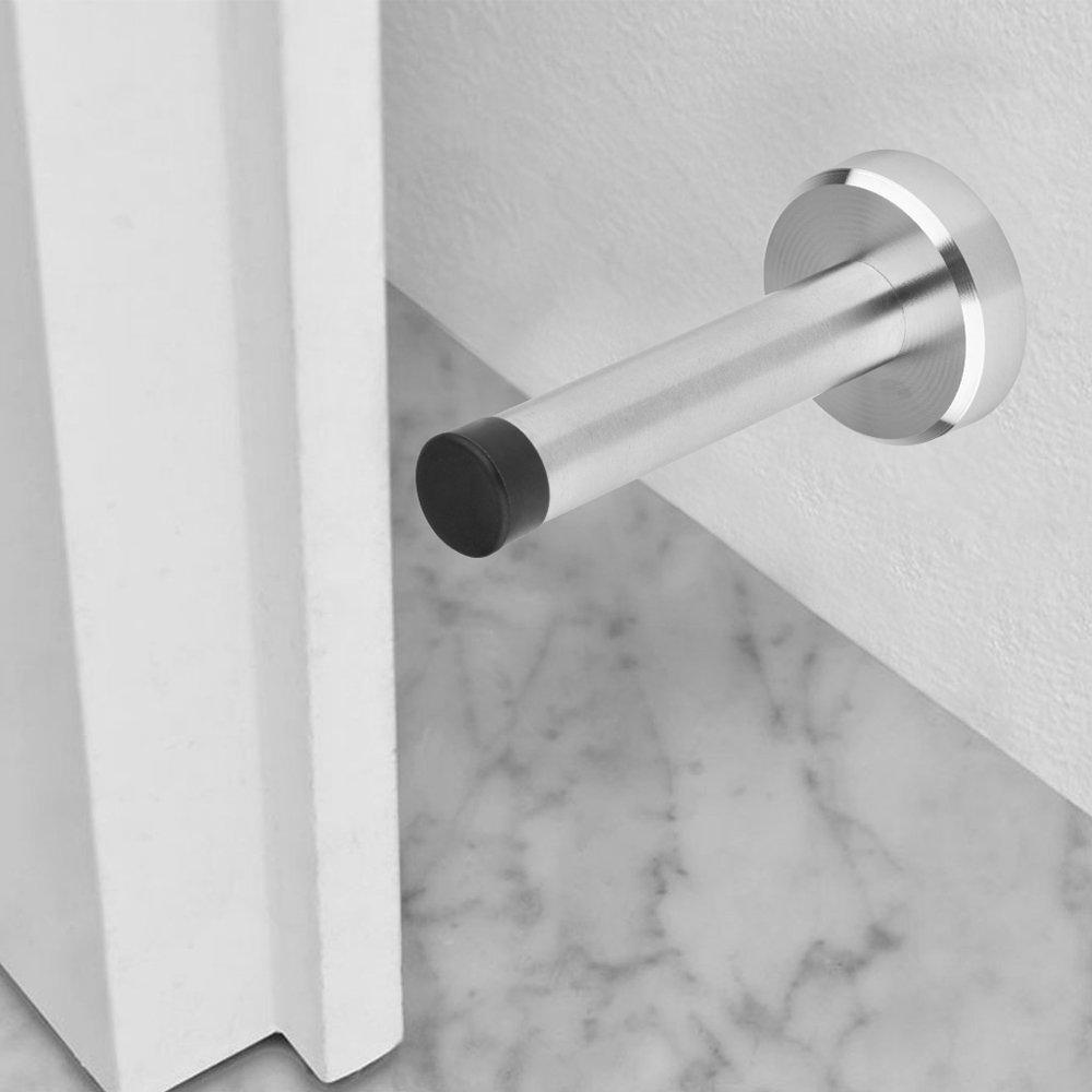 Door Hardware 2pcs Aushen Wall Door Stopper 3 74inch Stainless Steel Wall Mount Brushed Finish Diy Door Stopper Rubber Tip Modern Door Stop Industrial Scientific Classiccakes Co Nz