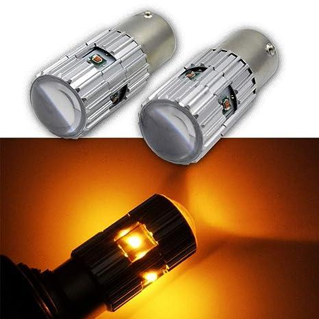 Ruiandsion - Bombillas LED 1156 de 25 W, 12 a 24 V, CREE 4SMD
