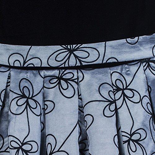 Mädchenkleid Festliches V La Schwarz grau 5FEqwdqTx