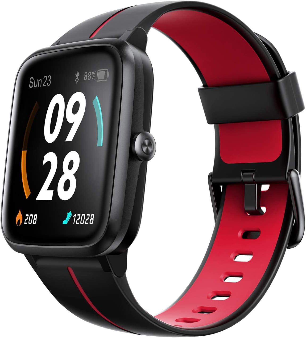 """Ulefone Watch GPS - 40 Días Duración Batería, Reloj Inteligente 5ATM Impermeable, Pantalla 1,3"""", Pulsera Actividad Deportivo, Pulsómetro, Rastreador Ejercicios Monitor Sueño para iOS Android Rojo"""