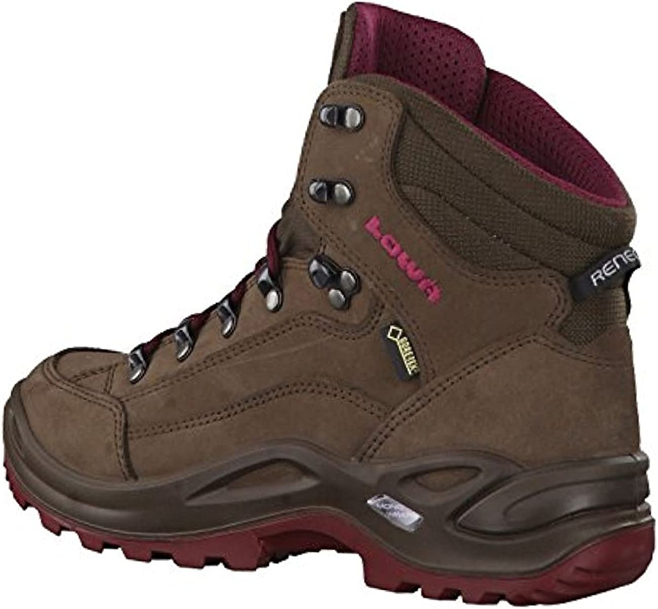 Womens Espresso//Berry Lowa Renegade GTX Mid Hiking Boot Womens