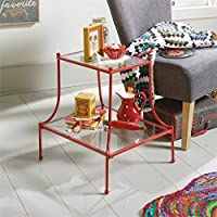 Sauder Eden Rue End Table in Red