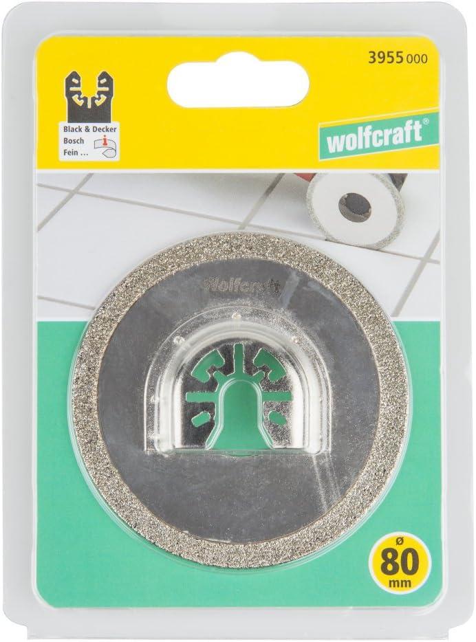 Wolfcraft 3955000 Lame de scie diamant Ø 80 mm