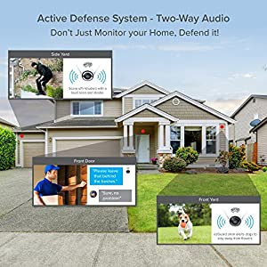 EZVIZ ezGuard 1080p - Wireless Wi-Fi Security Camera with Remote Activated Alarm System and Pre-Installed 16GB microSD Card
