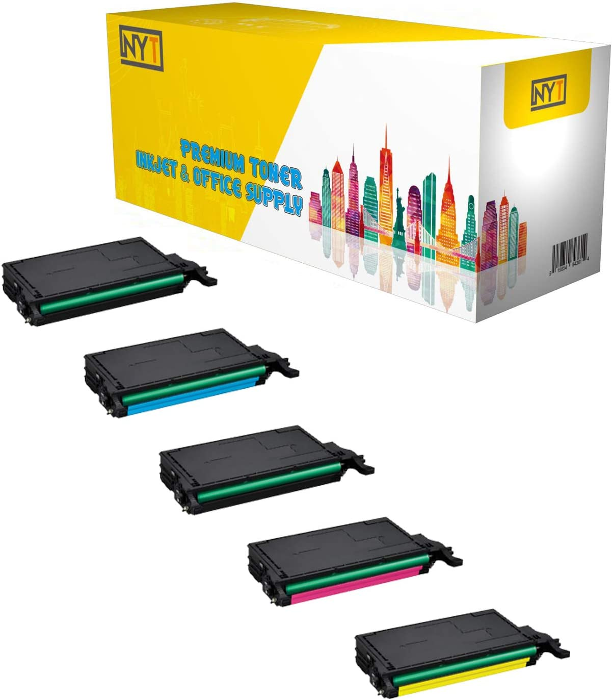 NYT New Compatible 5 Pack CLTK508S CLTC508S CLTM508S CLTY508S High Yield Toner For SAMSUNG CLP620 CLP670-2Black Cyan Magenta Yellow