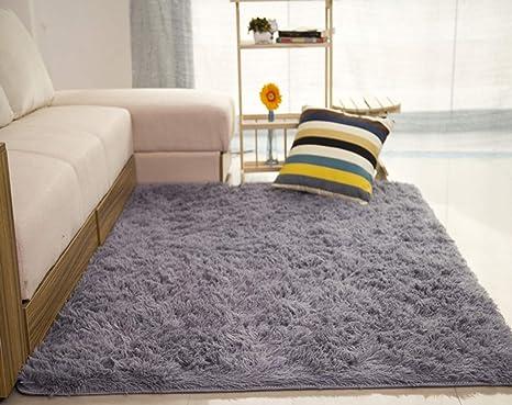 Tappeti Per Bambini Lavabili : Liveinu tappeto shaggy rettangolo tappeti soggiorno pelo lungo