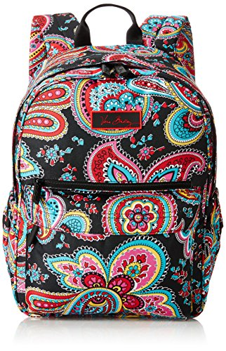 Vera Bradley Lighten Up Just Right Backpack, Parisian Paisley, One Size