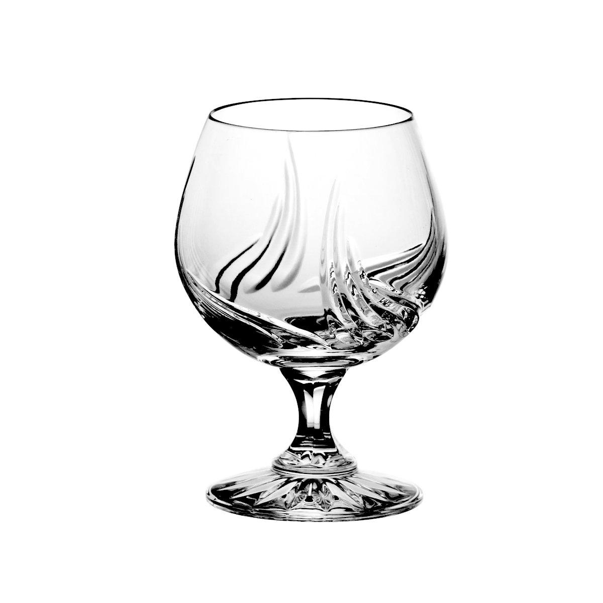 Crystaljulia 5794–Bicchieri Cognac vetro cristallo al piombo 6pezzi, 250ml