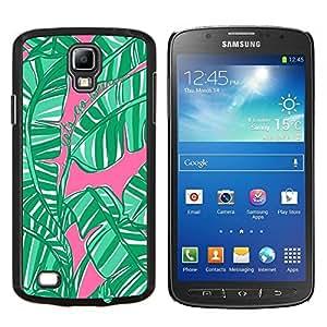 TECHCASE---Cubierta de la caja de protección para la piel dura ** Samsung Galaxy S4 Active i9295 ** --Jungle Naturaleza rosado de la acuarela
