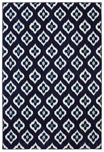 Karastan Pacifica Briarcliff Woven Rug, 8'x11', Indigo (Karastan Geometric Rug)