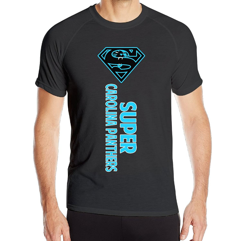 Candi Men's Super Carolina Football Short Sleeve Sports New Style Tee Black