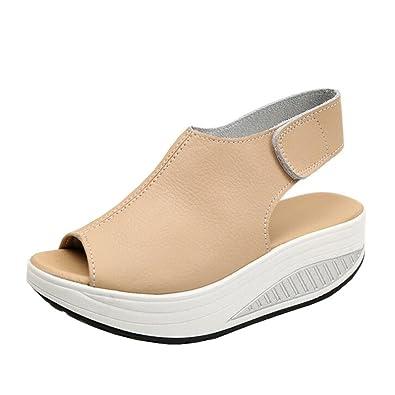 Chaussures à bout ouvert à scratch Find noires femme oQamc