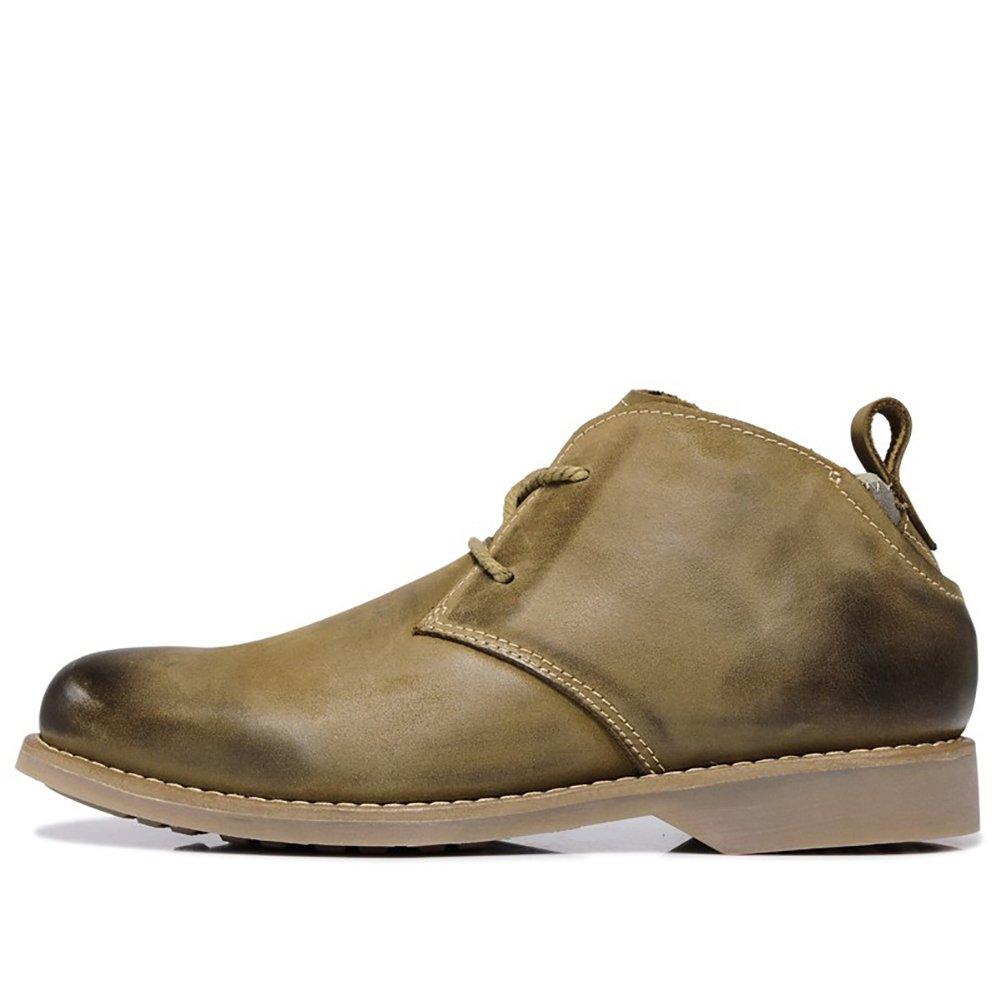 Icegrau Herren Leder Stiefel Desert Stiefel Leder Kurzschaft Stiefel & Stiefeletten b80960